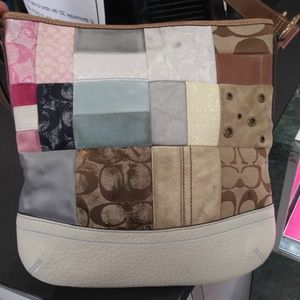 Authentic Coach Patchwork Color Handbag
